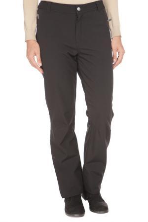 Прямые брюки с застежкой на молнию Luhta. Цвет: черный