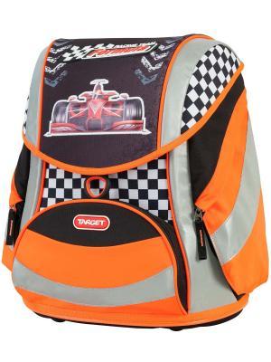 Ранец Racing team Target. Цвет: черный, оранжевый