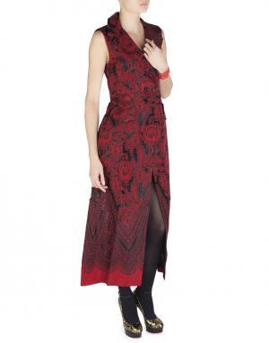 Шелковое платье Alessandra Rich. Цвет: красный