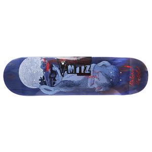 Дека для скейтборда  Roadkill Hirsch Blue 32 x 8.4 (21.3 см) Antiz. Цвет: белый,синий,голубой