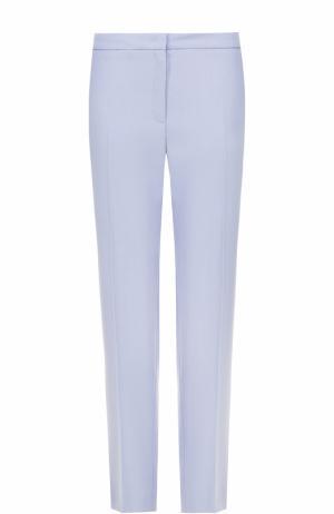Шерстяные брюки прямого кроя Escada. Цвет: голубой