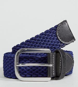 Noak Темно-синий тканый ремень. Цвет: темно-синий