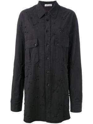 Декорированная куртка рубашечного типа Faith Connexion. Цвет: чёрный