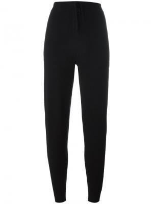 Спортивные брюки с полосатым принтом Chinti & Parker. Цвет: чёрный