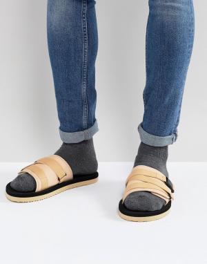 ASOS Светло-бежевые сандалии с ремешками. Цвет: светло-бежевый