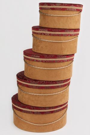 Коробочки шляпные 5 предметов Jennifer Taylor. Цвет: мультицвет