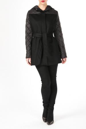 Пальто DONNA ENRICA. Цвет: черный