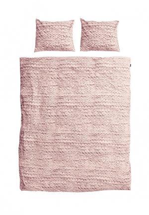 Комплект постельного белья 2-спальный Snurk. Цвет: розовый