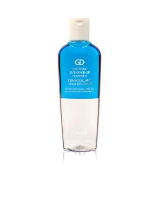 Жидкость для снятия макияжа SOOTHING EYE MAKE-UP REMOVER GA-DE. Цвет: голубой, прозрачный