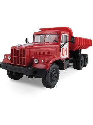 Машина KRAZ-256B пожарная охрана AUTOTIME. Цвет: красный