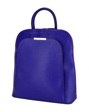 Рюкзаки и сумки на пояс TUSCANY LEATHER. Цвет: ярко-синий