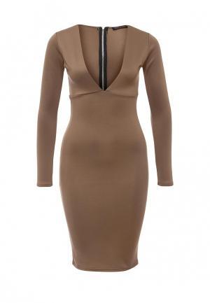Платье Edge Street. Цвет: коричневый