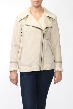 Куртка Marks & Spencer. Цвет: бежевый