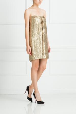 Платье из полиэстера Jay Ahr. Цвет: золотой