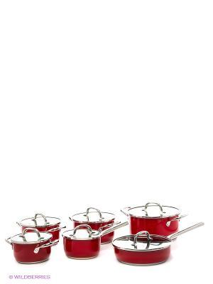 Набор посуды 12 пр. Winner. Цвет: красный
