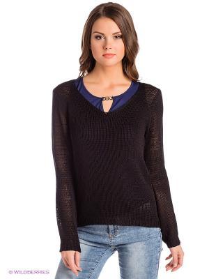 Пуловер Blue Seven. Цвет: черный