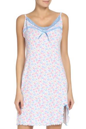 Сорочка ALFA. Цвет: белый, голубой