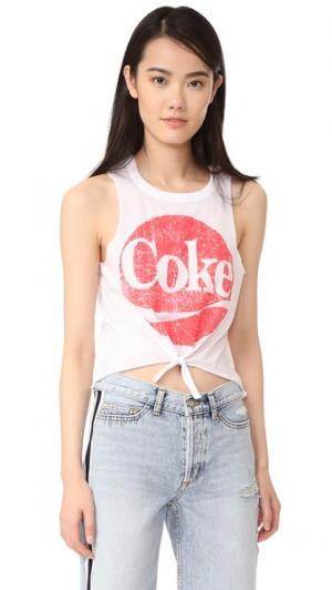 Майка Coca Cola Chaser. Цвет: белый