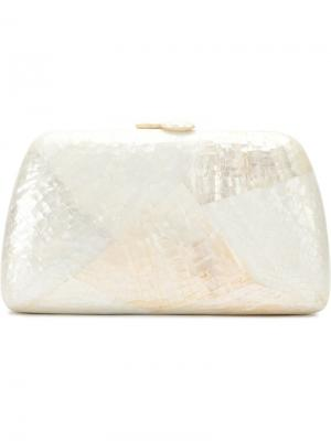 Mother of pearl clutch Serpui. Цвет: белый