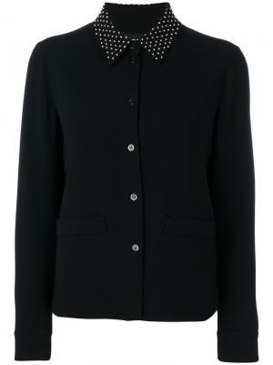 Пиджак-рубашка с заклепками на воротнике Boutique Moschino. Цвет: чёрный