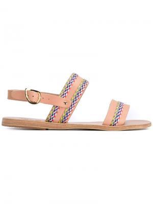 Dinami sandals Ancient Greek. Цвет: телесный