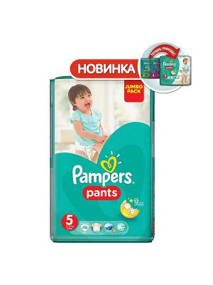 Трусики Pants 12-18кг, размер 5, 48 шт. Pampers. Цвет: зеленый