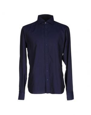 Pубашка YES ZEE BY ESSENZA. Цвет: темно-синий