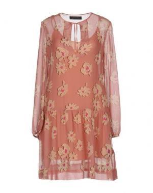 Короткое платье KRISTINA TI. Цвет: пастельно-розовый