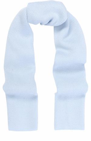Шерстяной шарф Catya. Цвет: голубой