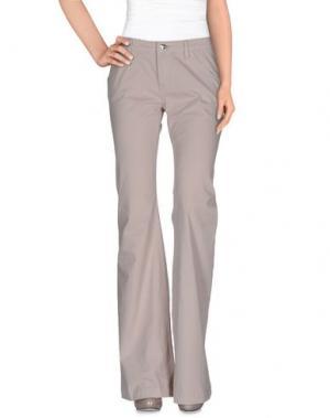Повседневные брюки LEROCK. Цвет: светло-серый