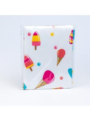 Клеенка непромокаемая на кровать, рисунок: мороженое Canpol babies. Цвет: белый, голубой, розовый