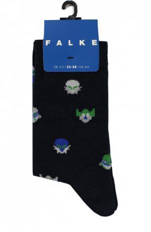 Носки с рисунком Falke. Цвет: темно-синий