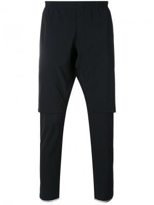 Многослойные брюки Sàpopa. Цвет: чёрный