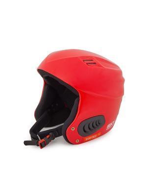 Шлем горнолыжный Sky Monkey Shiny Red. Цвет: красный, черный