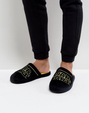 Fizz Creations Слиперы с логотипом Star Wars. Цвет: черный