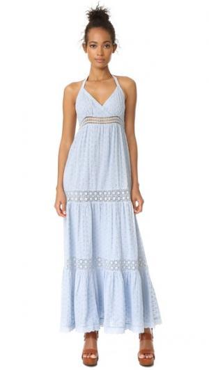 Макси-платье Shifli с цветочным рисунком Love Sam. Цвет: голубой