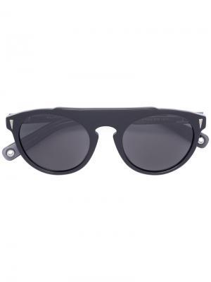 Солнцезащитные очки-авиаторы Vilebrequin. Цвет: чёрный