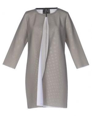 Легкое пальто ES'GIVIEN. Цвет: серый