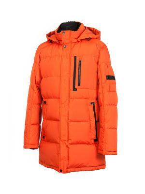Пуховик AVIVA. Цвет: оранжевый