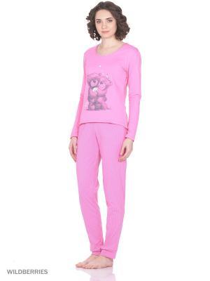 Домашний костюм SALHAM. Цвет: розовый