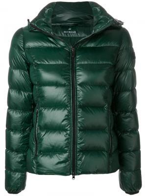 Пуховая куртка на молнии Hetregò. Цвет: зелёный
