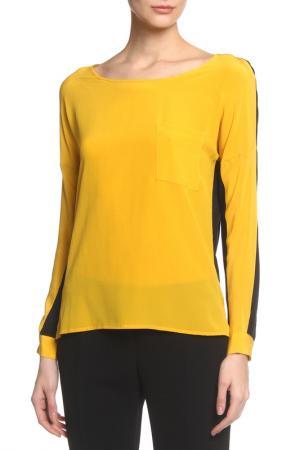 Блузка Caractere. Цвет: желтый