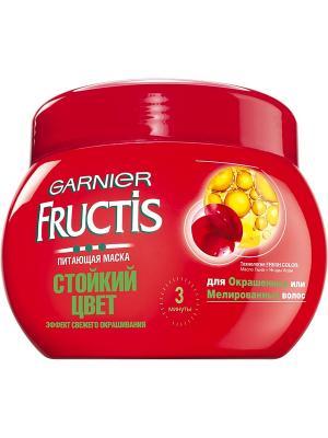 Маска для волос Fructis, Стойкий цвет, укрепляющая, 300 мл Garnier. Цвет: красный