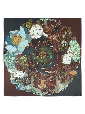 Платок Eleganzza. Цвет: морская волна, коричневый, серо-голубой
