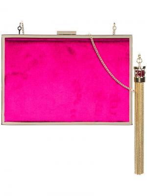 Бархатный минодьер Monique Lhuillier. Цвет: розовый и фиолетовый