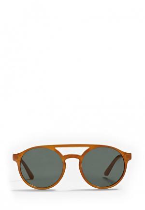 Очки солнцезащитные Mango. Цвет: бежевый