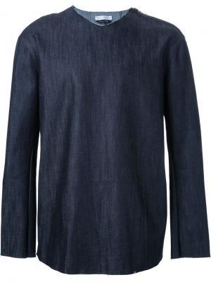 Рубашка со складкой на спине Selfmade By Gianfranco Villegas. Цвет: синий