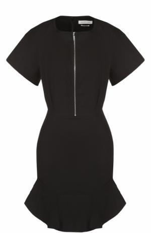 Приталенное мини-платье с круглым вырезом на молнии Isabel Marant Etoile. Цвет: черный