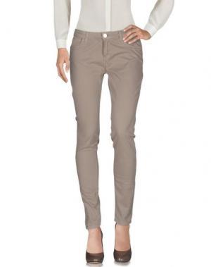 Повседневные брюки MAISON ESPIN. Цвет: хаки