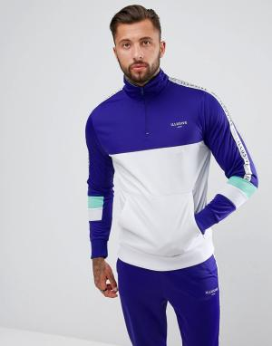 Illusive London Фиолетовая облегающая спортивная куртка с молнией. Цвет: фиолетовый